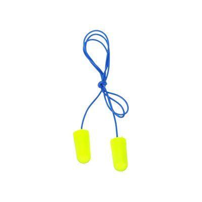 3M® E-A-Rsoft Tapón Auditivo Yellow Neons Regular con cordón, 311-1250