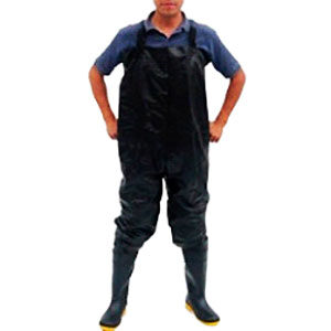 Bota pantalonera con peto y tirantes ajustables
